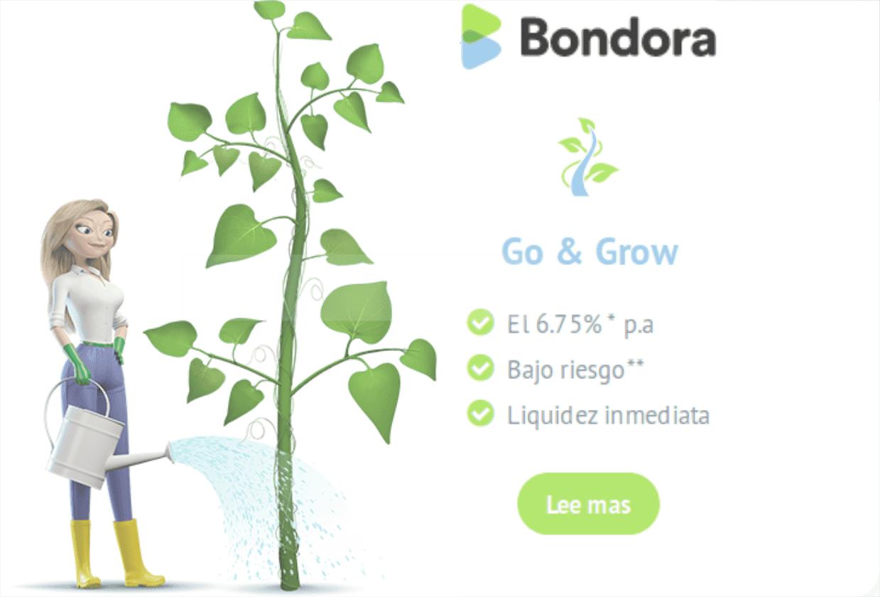 Obtenga un interés del 6.75% en Euros con Bondora&Grow