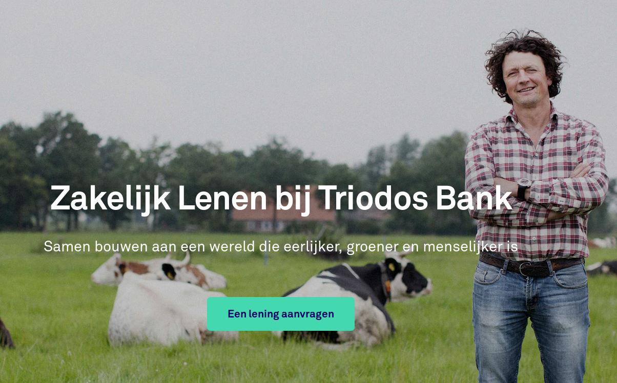 zakelijke lening bij triodos bank aanvragen