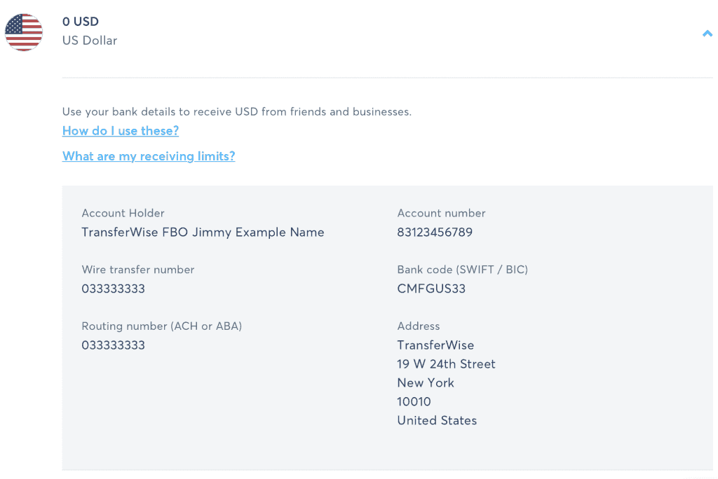 transferwise non-resident us bank account