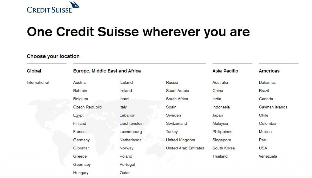 credit suisse open account non resident