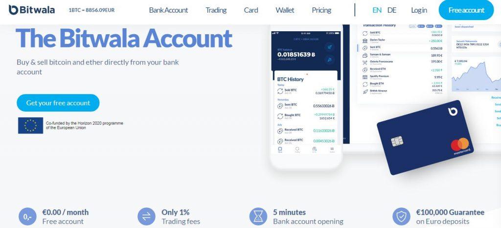 bitwala cryptocurrency banking