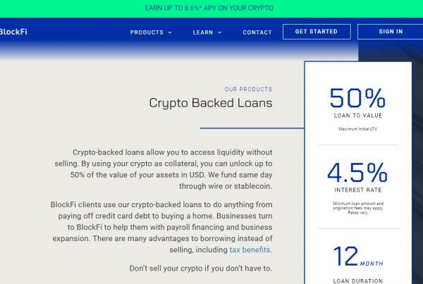 crypto backed loans