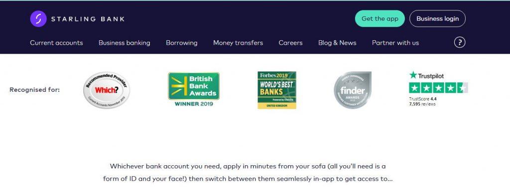 starling bank UK