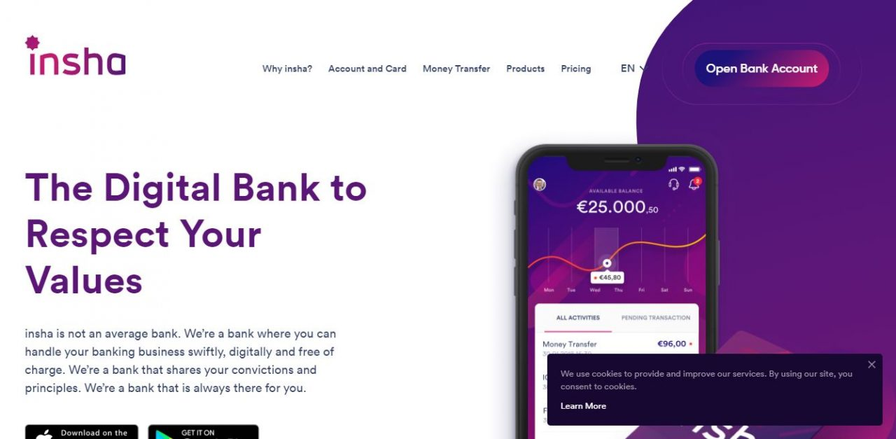 insha: Digital Interest-Free Islamic Banking