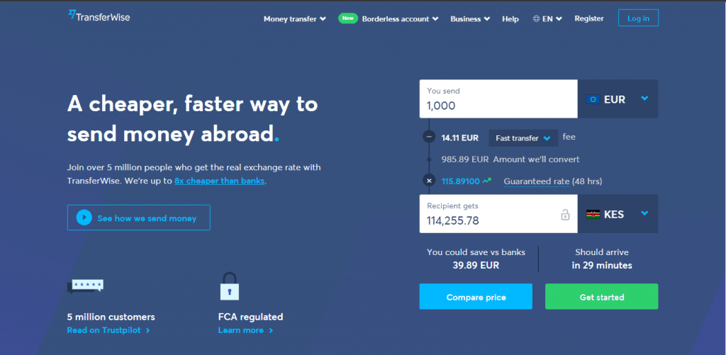 Transferwise to mpesa