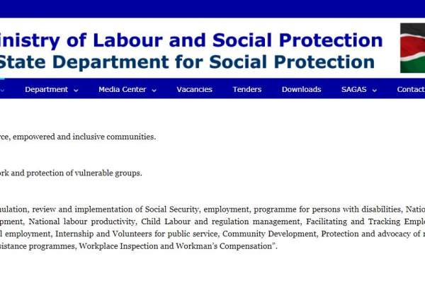 National Social Protection Policy in Kenya