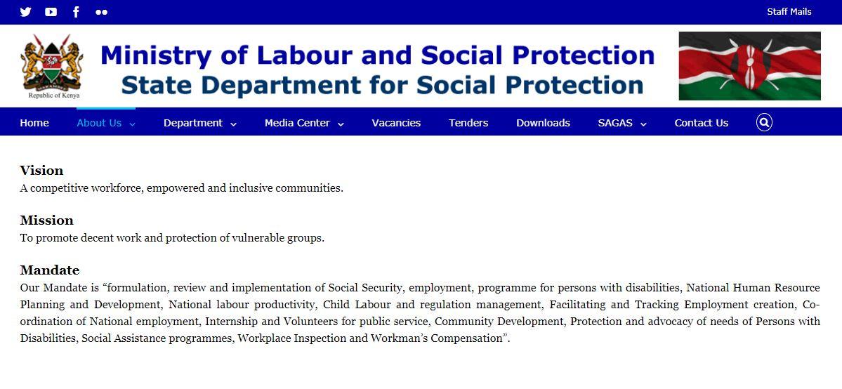 National Social Protection Policy in Kenya