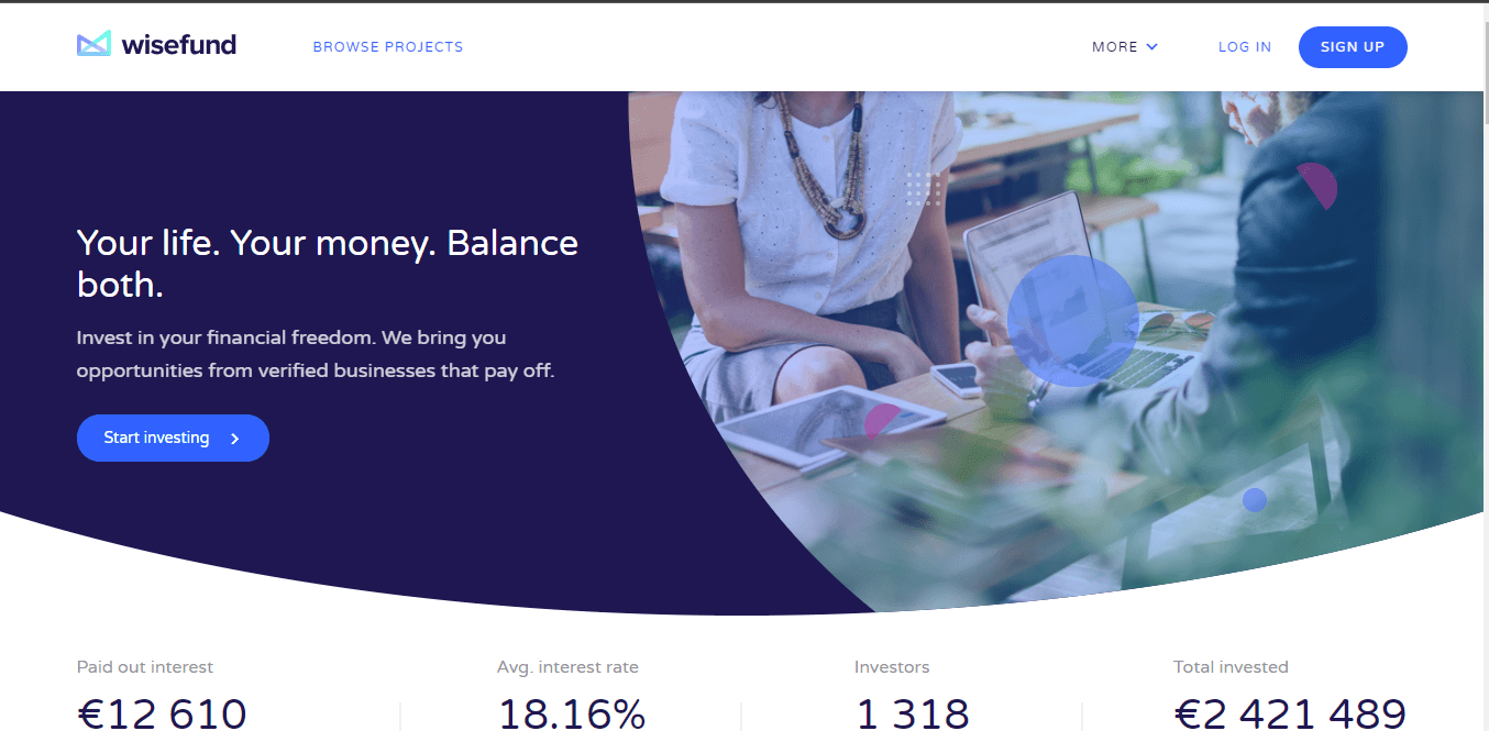 Wisefund Review: Peer-to-Peer Marketplace With 18% APR