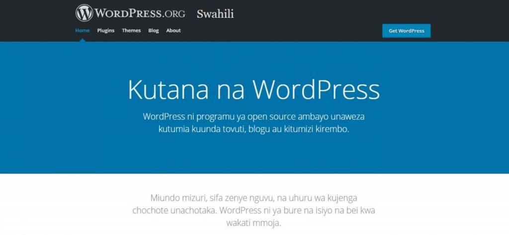 WordPress in Swahili
