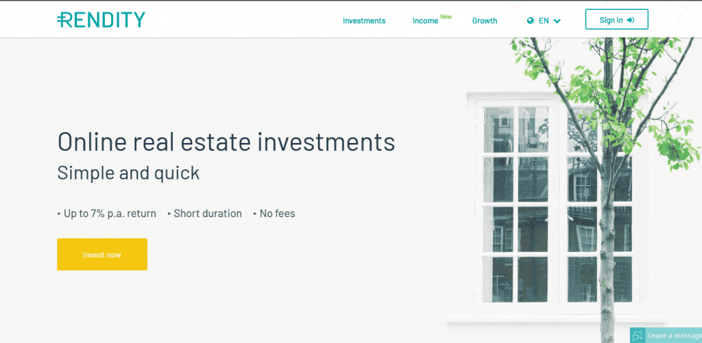 peer to peer investment Rendity