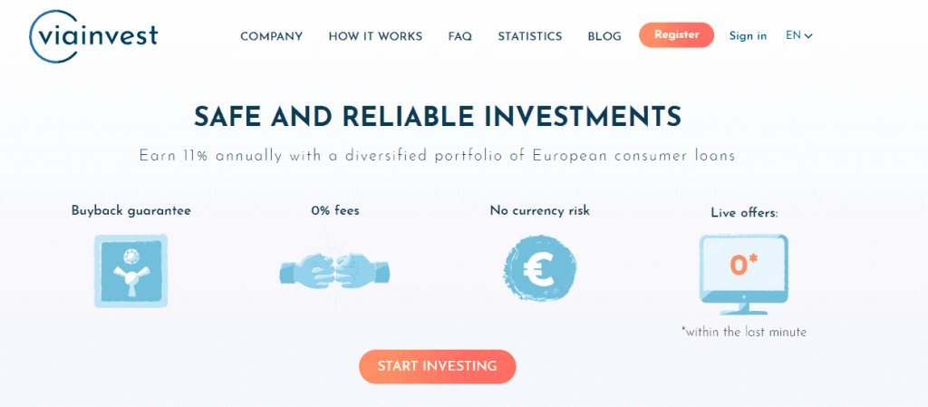 peer to peer investment ViaInvest