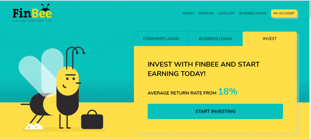 peer to peer Investing in Finbee