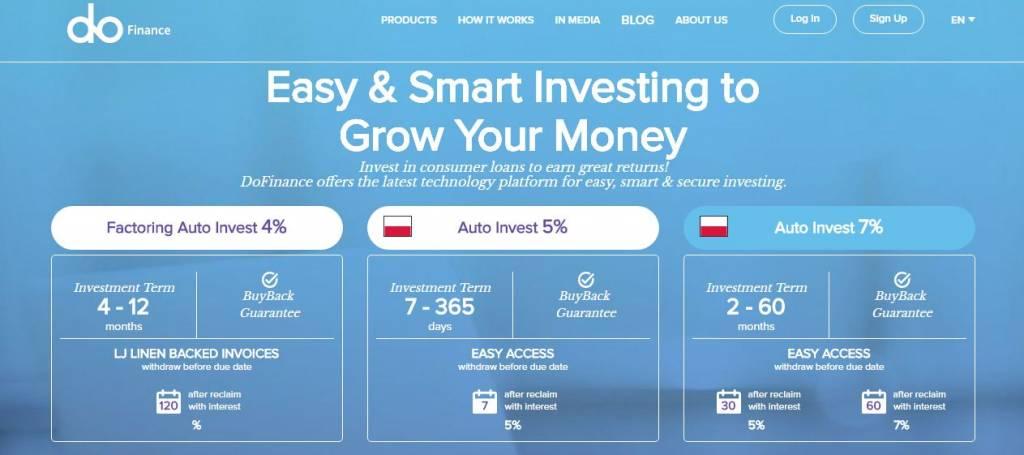 peer to peer investment DoFinance