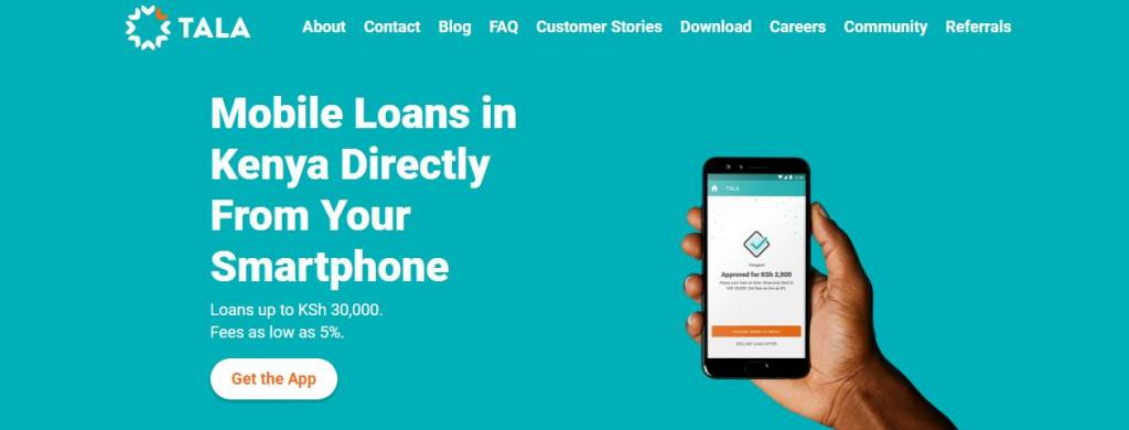 tala loan mobile phone loan