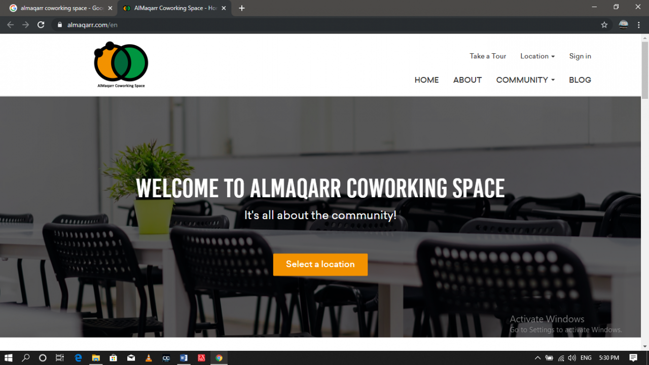 One of the co-working spaces in Egypt