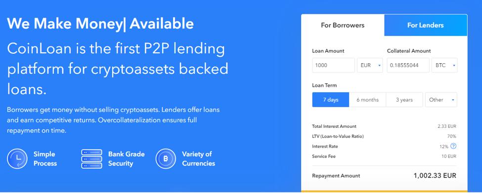 CoinLoan Bitcoin Bank Account