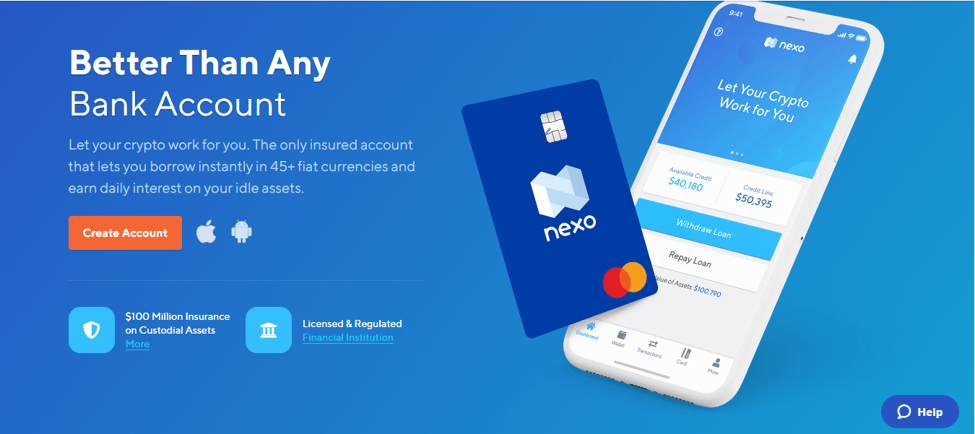 Nexo Bank Account