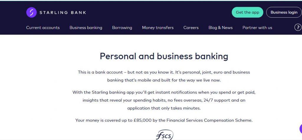 starling mobile bank UK