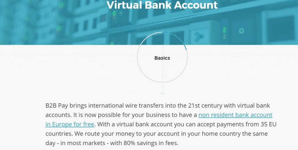 virtual bank account Europe